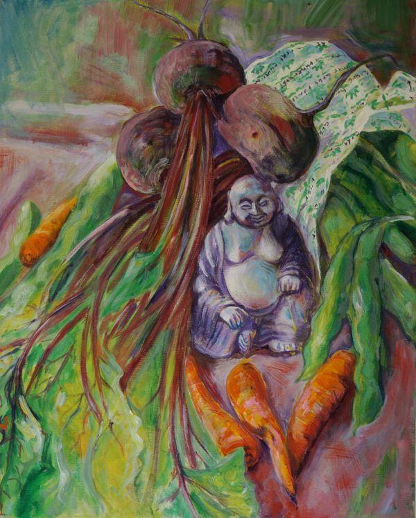 painting veg buddha